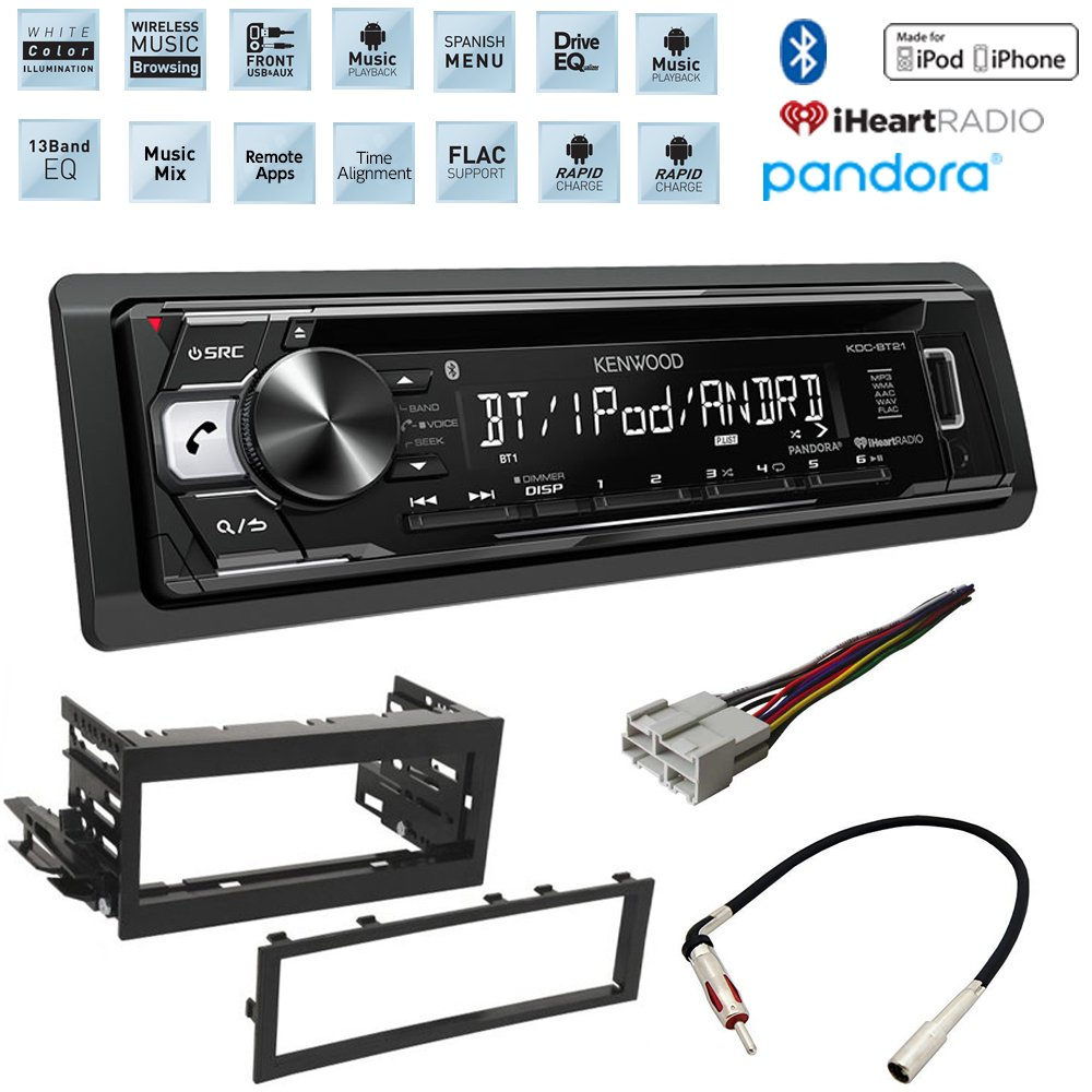 CHEVROLET GMC 1995 – 2005 CD/MP3 Car Stereo Receiver with Bluetooth and Front USB Input With Dash Kit Wire Harness and Antenna Adapter by ACCEX,KENWOOD