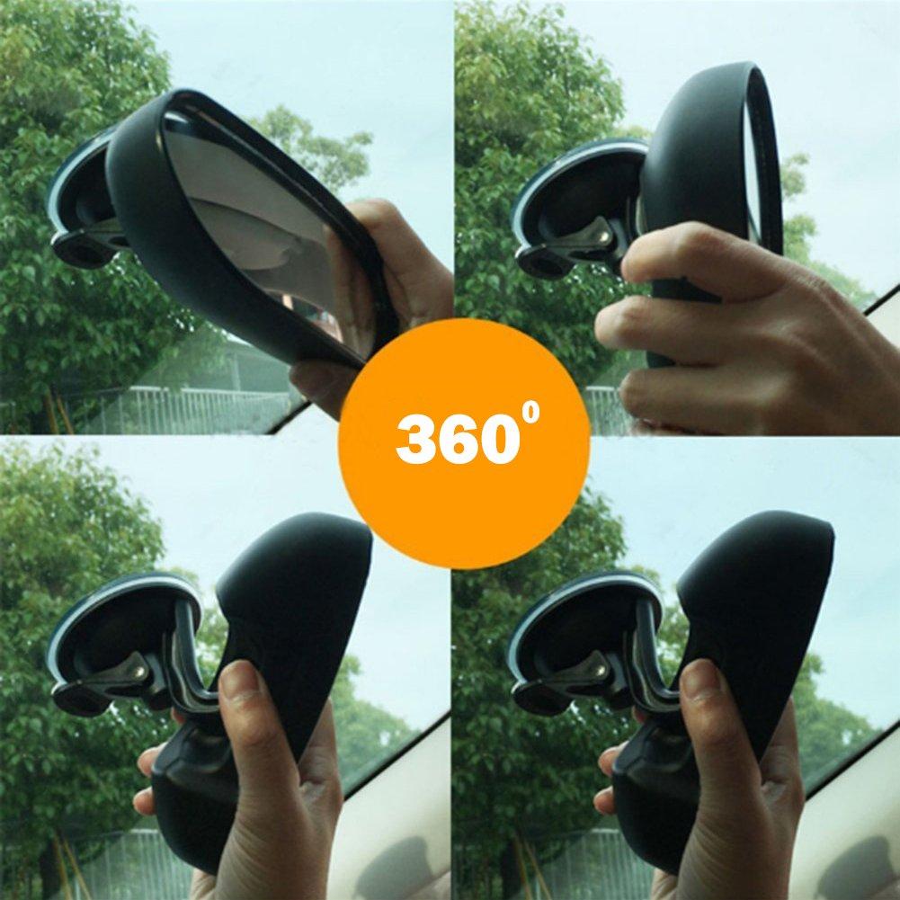 R/étroviseur b/éb/é Miroir b/éb/é Si/ège arri/ère miroir pour auto facilement pour observer le b/éb/é de chaque d/éplacement s/écurit/&ea AIPROV Auto pour b/éb/é Miroir Ventouse