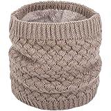 ANGTUO Sciarpa in maglia unisex, Inverno scamosciato spessore scaldino per sciarpa per donne e uomini sciarpa - Migliore regalo
