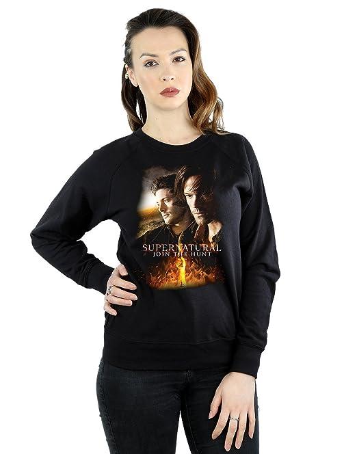 Supernatural Hombre Flaming Poster Camiseta ZB9Vz0K9hv