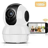 Hommie 1080P WLAN IP Kamera, HD-Überwachungskamera mit Nachtsicht, Bewegungserkennung,Zwei-Wege Audio, 2.4GHz Sicherheitskamera Home für Baby, Haustier