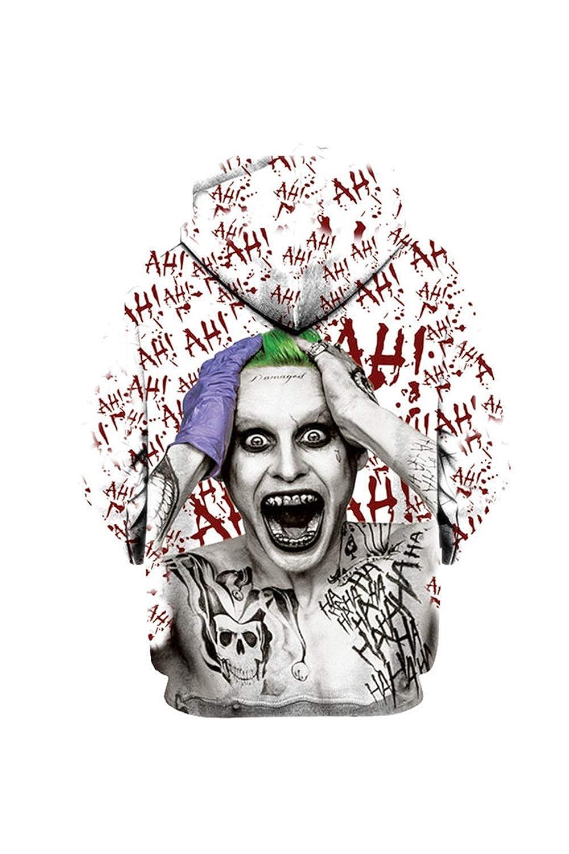 Nimpansa Women Men Matching Hoodies Joker Print Pullover Daily Sweatshirts at Amazon Womens Clothing store: