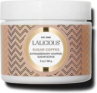 product image for LALICIOUS Sugar Coffee Extraordinary Whipped Sugar Scrub - Cane Sugar Body Scrub with Coconut Oil & Honey, No Parabens (2 Ounces)