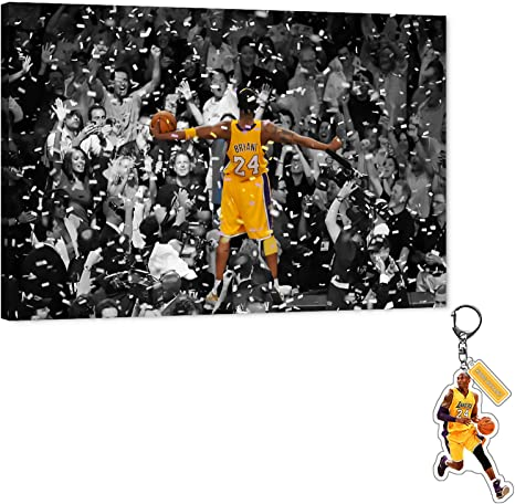 Kobe Bryant Basketball Picture Photo Print On Framed Canvas Wall Art Home Decor