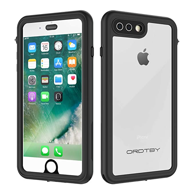 ORDTBY iPhone 7 Plus/8 Plus Waterproof Case, Underwater Full Sealed Cover  IP68 Certified for Waterproof Snowproof Shockproof and Dustproof Case for