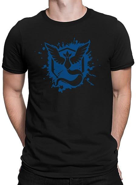 vanVerden Camiseta Hombre Team Blue Wisdom Camiseta Entrenador Go Gaming Gamer, Tamaño:XS,