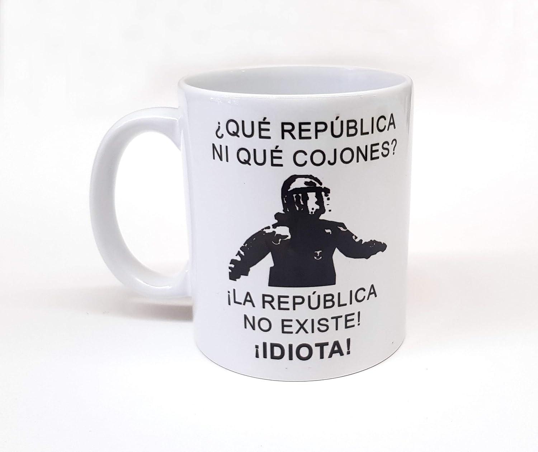 Taza Personalizada Frase de Moda mosso de escuadra La república no Existe Idiota Taza de Desayuno Ideal para Regalo españa cataluña: Amazon.es: Hogar