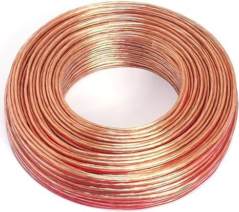 trasparente colore Cavo per altoparlante 2 x 0,75 mm/² lunghezza 10 m