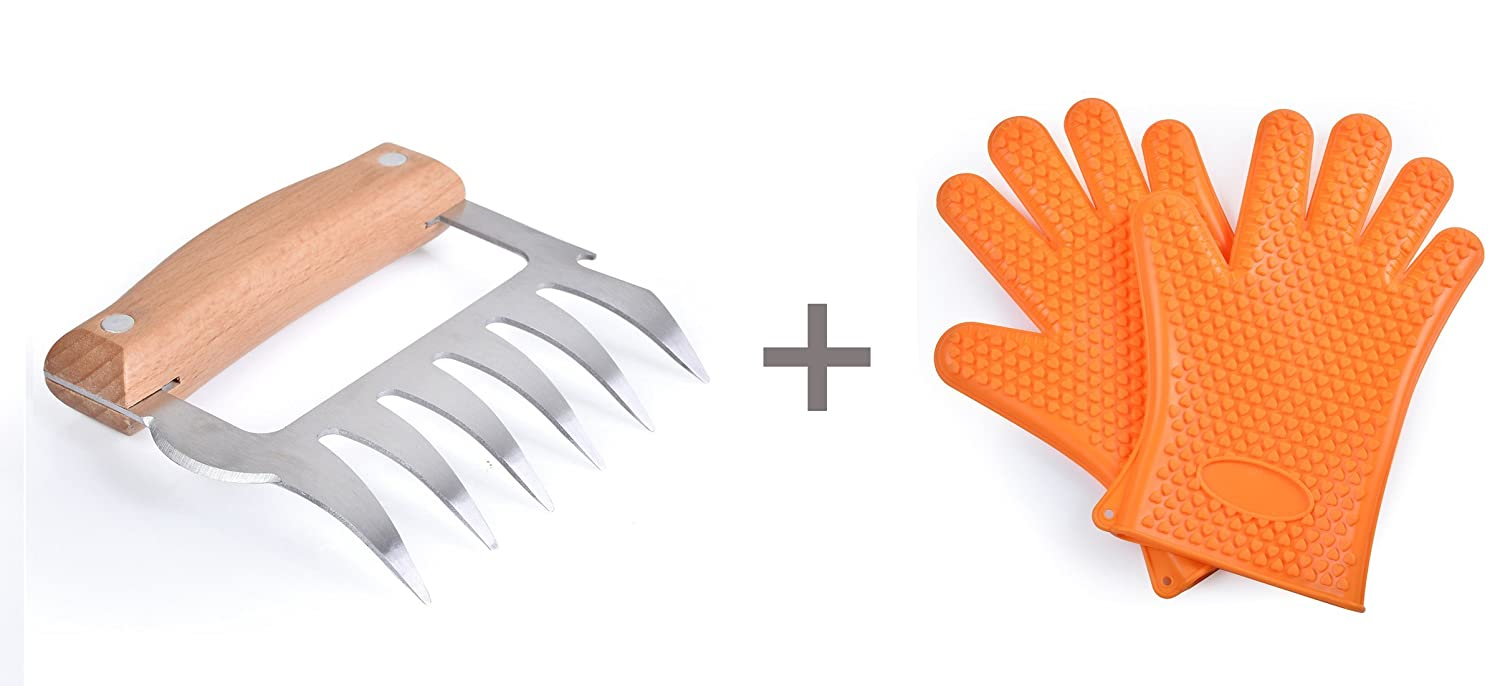 Stainless Steel Pulled Pork Claws, The Best Grill Parts, Easily Chopped Meat, Suitable for Holding the Bear's Claws
