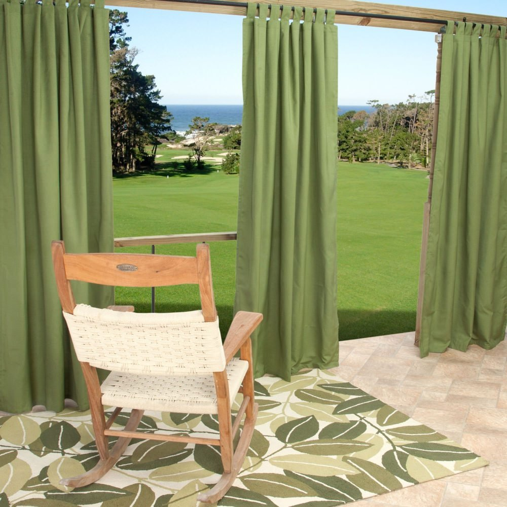 Charming Amazon.com : Outdoor Curtains CUR108CLS 54 In. X 108 In. Sunbrella Outdoor  Curtain With Tabs   Cilantro : Garden U0026 Outdoor