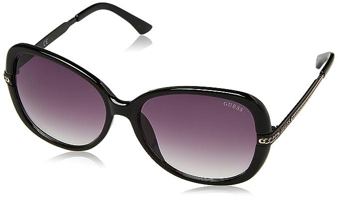 Guess Guf253, Gafas de Sol para Mujer, Negro, 58