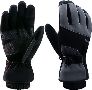 Molee Skihandschuhe,Snowboard Handschuhe Winterhandschuhe Sporthandschuhe Outdoor Handschuhe Herren Damen Touchscreen Funktion Wählbar Extrem Warm Wasserdicht Winddicht Rutschfest Atmungsaktiv