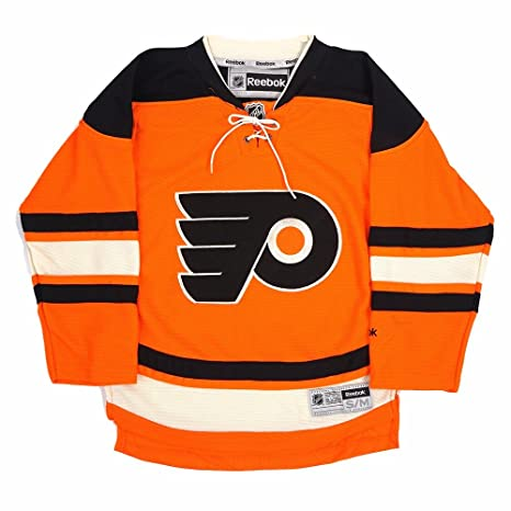46b8d6e39 Philadelphia Flyers NHL Reebok Youth Orange Official Alternate 3rd Premier  Jersey (M)