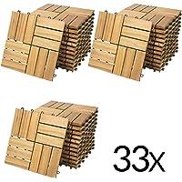 """Deuba Set de 33 baldosas """"Clásica"""" de madera"""