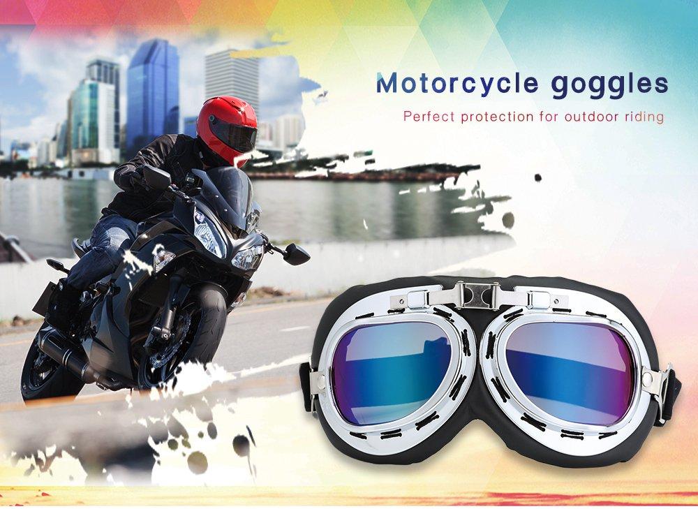 Sport f/ür Harley Gray Deanyi Motorradbrille Schutz gegen Wind Radsport Sonnenbrille