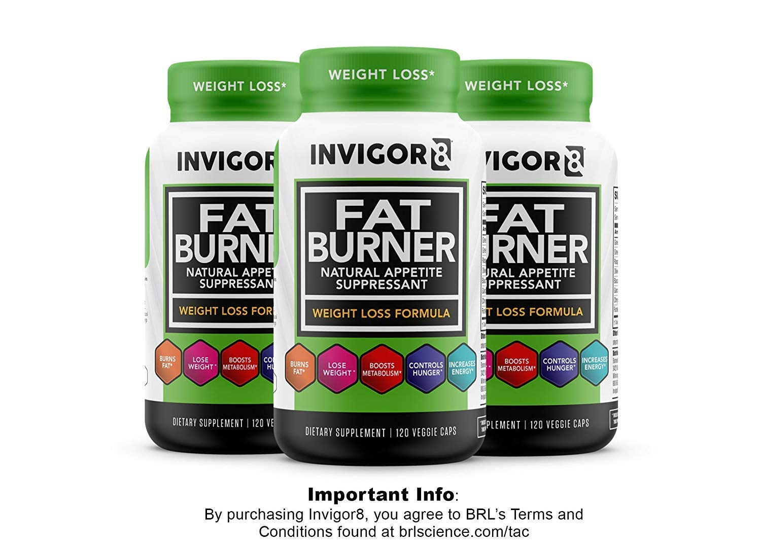 INVIGOR8 Fat Burner and Natural Appetite Suppressant – Healthy Weight Loss Formula and Thermogenic with Green Tea Leaf Extract (3-Pack 90 Day Supply)…