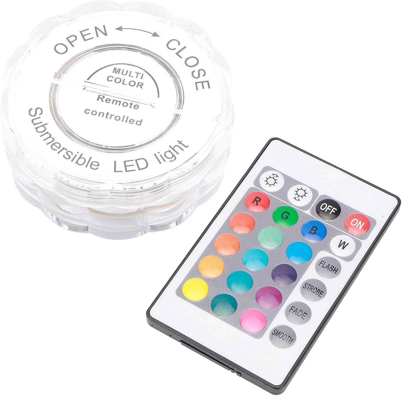Decdeal Luces LED subacu/áticas impermeables con control remoto para decoraciones de acuarios Boda de jard/ín