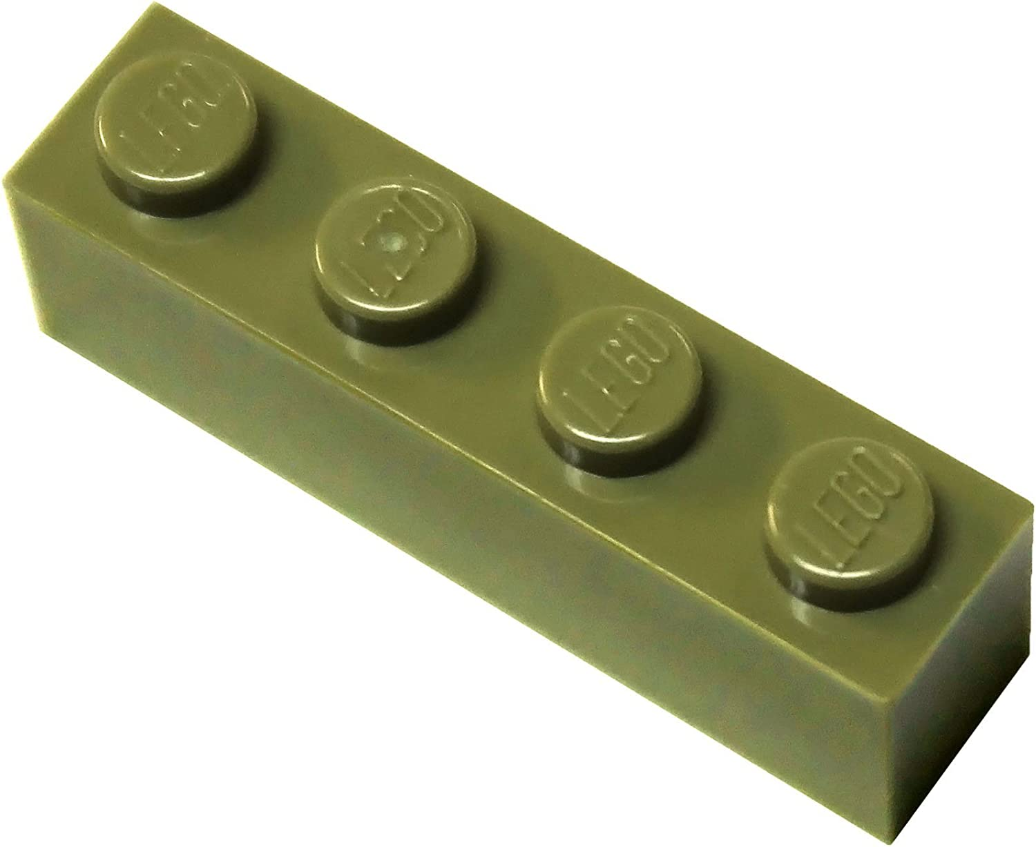 LEGO Parts and Pieces: Olive Green 1x4 Brick x200