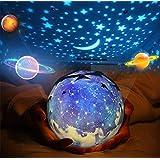 Luz de noche, GLURIZ Luz nocturna, Lámpara de proyector, Lámpara de noche, Bebé Proyector lámpara, 360 Grados rotación cumple
