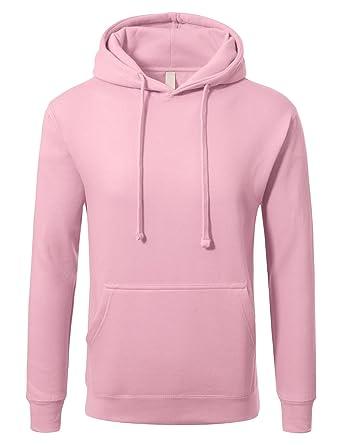 f09f9a5bf JD Apparel Men's Premium Heavyweight Pullover Hoodie Sweatshirt S Baby Pink
