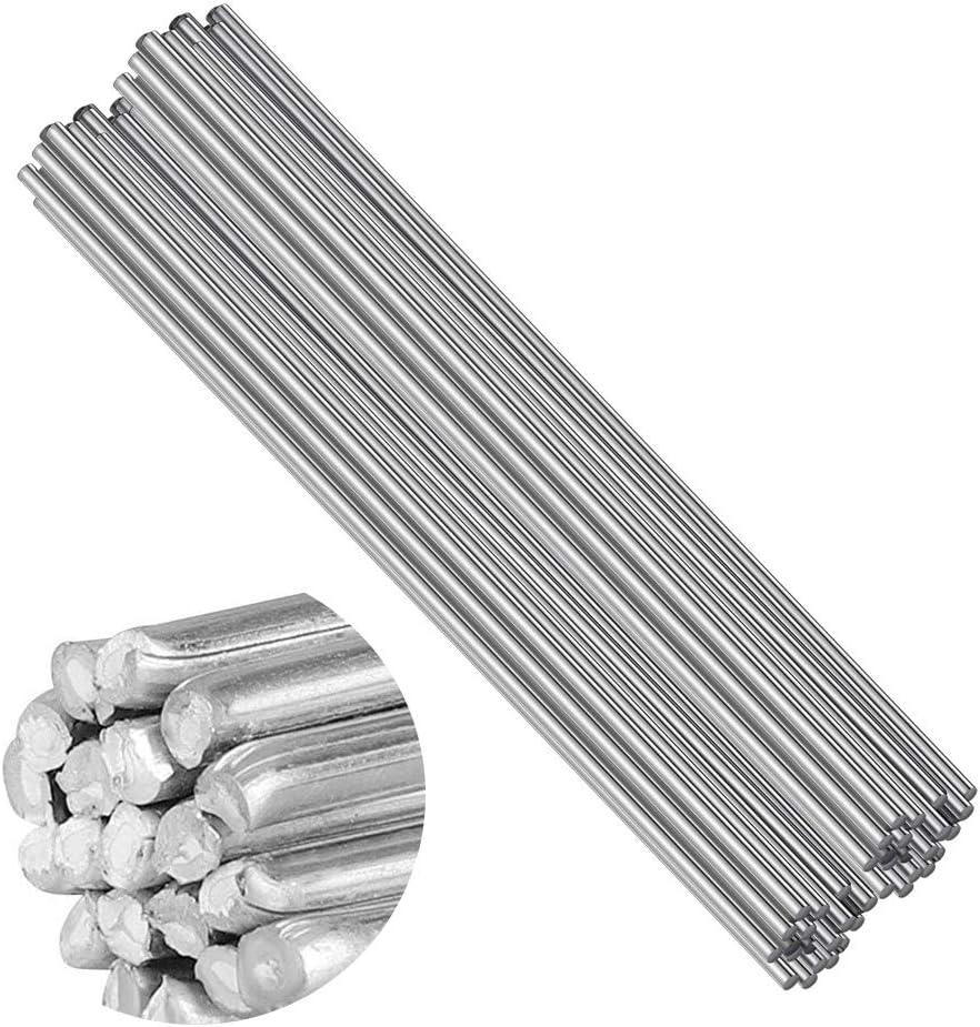 Opaltool 50pcs Soldadura Aluminio Baja Temperatura,soldadura Universal,varilla De Soldadura Con N/úcleo De Flujo 2.0MM 50CM