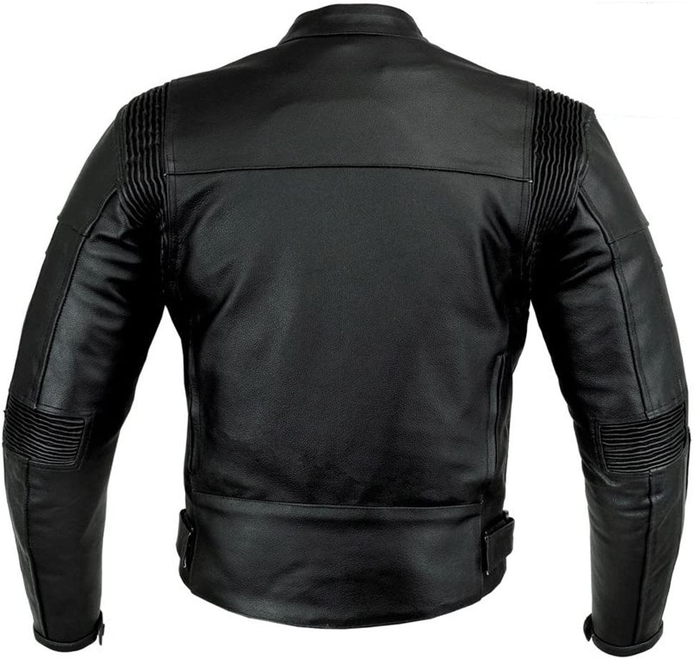 M KNIGHT RIDER STYLE MENS CE ARMOUR MOTORBIKE MOTORCYCLE LEATHER JACKET