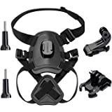 ASOCEA Dog Harness Chest Mount for Gopro HERO 5 4 3 Black Silver SJCAM SJ4000 SJ5000 AKASO EK7000 Dragon Touch 4K Sports Action Camera Pet Accessories Kit