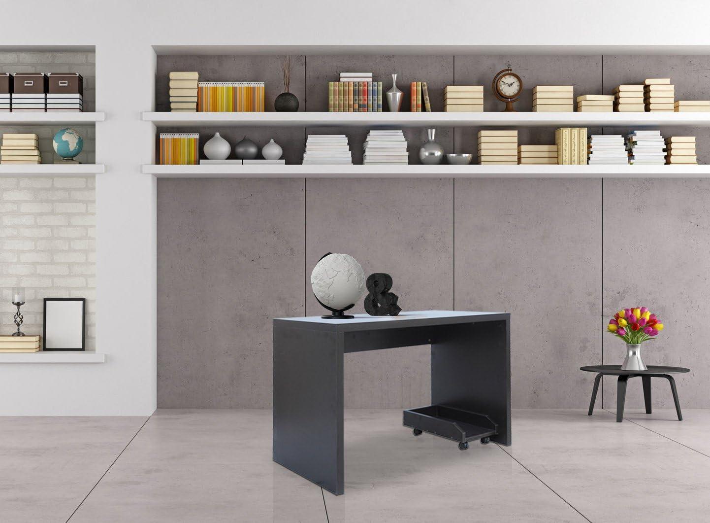 Rebecca Mobili Scrivania Pc Tavolo Computer Moderno Legno MDF Studio Lavoro 75x113x60 cm - 1 Ripiano