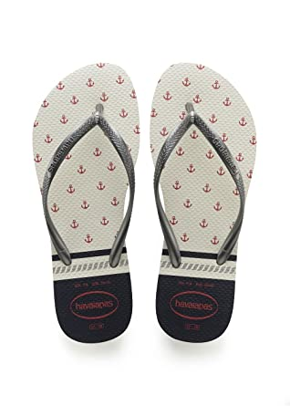 8e286b0f9 Image Unavailable. Image not available for. Color  Havaianas Slim Nautical  Flip Flops ...