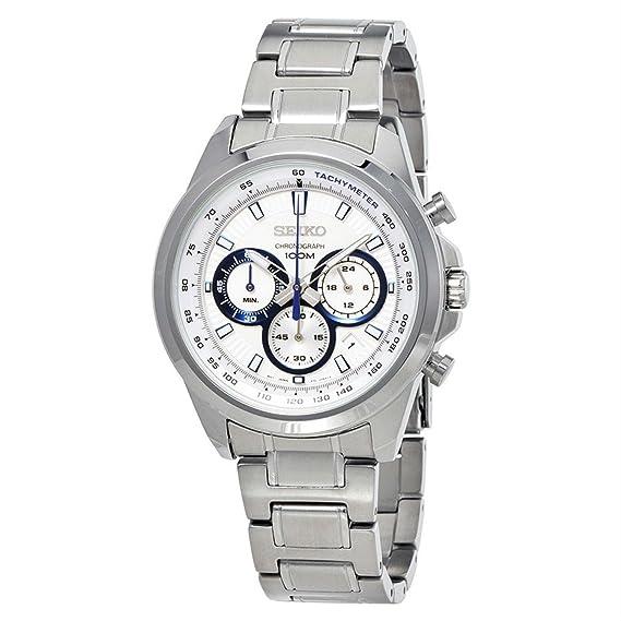 Seiko Reloj Cronógrafo para Hombre de Cuarzo con Correa en Acero Inoxidable SSB239P1: Amazon.es: Relojes