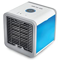 Air Cooler, Arctic Air, Personal Space Cooler, Portable Mini Cooler, Personal Space Cooler, Third Gear Speed Chill Room, Office Cooler humidifier & purifier by up to 5-8 Degrees,1.2m Cooling Area, 7 Adjustable LED Lights Color (White)