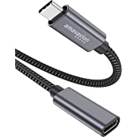 USB C-verlengkabel 6ft, Boutop 100W nylon USB 3.2 Gen 2 mannelijk naar vrouwelijk Type-C snellaadkabel 4K@60Hz Video…