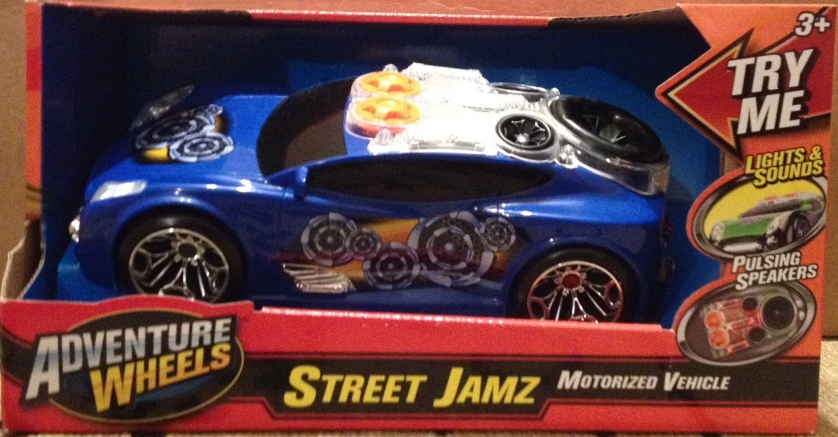 Adventure Wheels Street Jam Light and Sounds- Color and Design Pattern May Vary