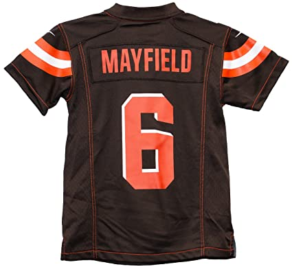 e159372ef91 Nike Baker Mayfield Cleveland Browns Team Color Youth Game Jersey (Youth  Small 8)
