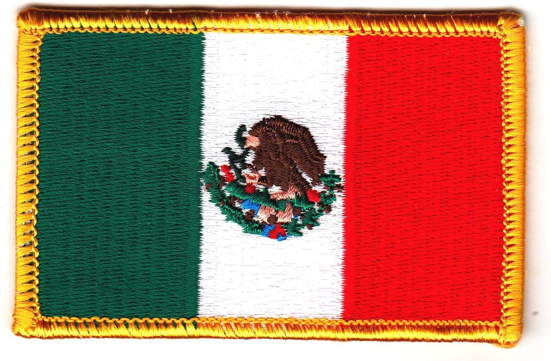 """MEXICO FLAG Iron On Patch 2 1//2/"""" Mexican National Flag"""