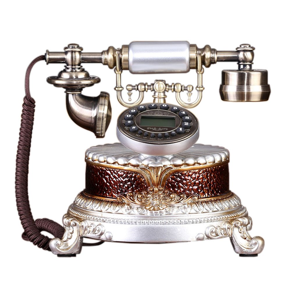 Fashion Home ZHILIAN Retro Telephone American Style Classical Landline Resin Pastoral Style Fixed Telephone 252324cm (Color : 3#)