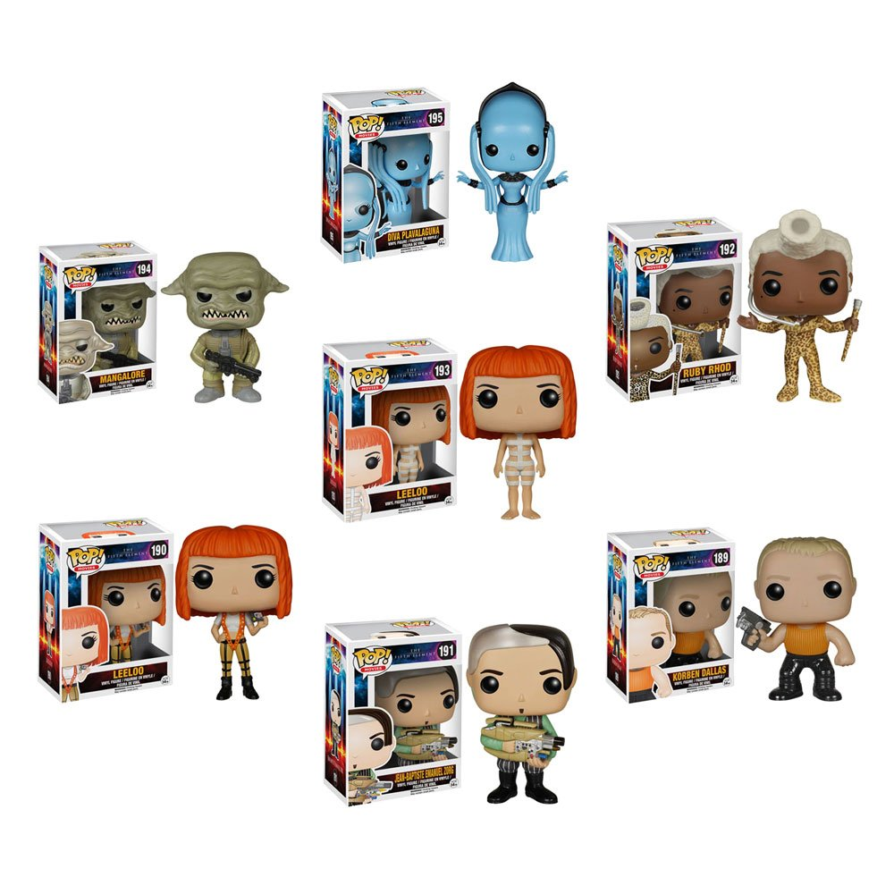 Funko The Fifth Element Leeloo, Ruby Rhod, Diva Plavalaguna, Korben Dallas, Straps Leeloo, Zorg and Mangalore POP! Vinyl Figures Set of 7 by Fifth Element