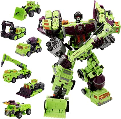 Oversize Transformers NBK Devastator Transformation Boy Toy Action Figure Yellow