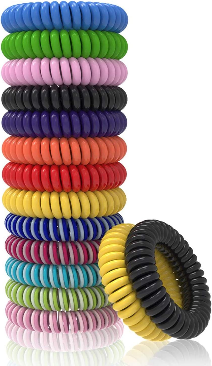 15 Pack T98 Mosquito Repellent Bracelet MulticolorB Insect Repellent Mosquito Bands Natural Plant Oil Mosquito Wrist Band for Adult Child Camping Climbing Bedroom Grilling