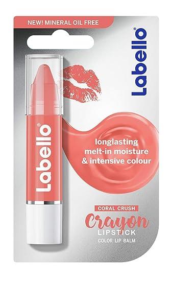 labello crayon  : Labello Coral Crayon Lipstick - Colour Lip Balm with ...