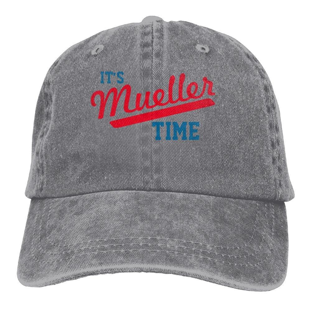 Amazon.com  Richard Funny It s Mueller Time Unisex Cotton Washed Denim Visor  Hat Adjustable Ash  Sports   Outdoors bea172eceaa