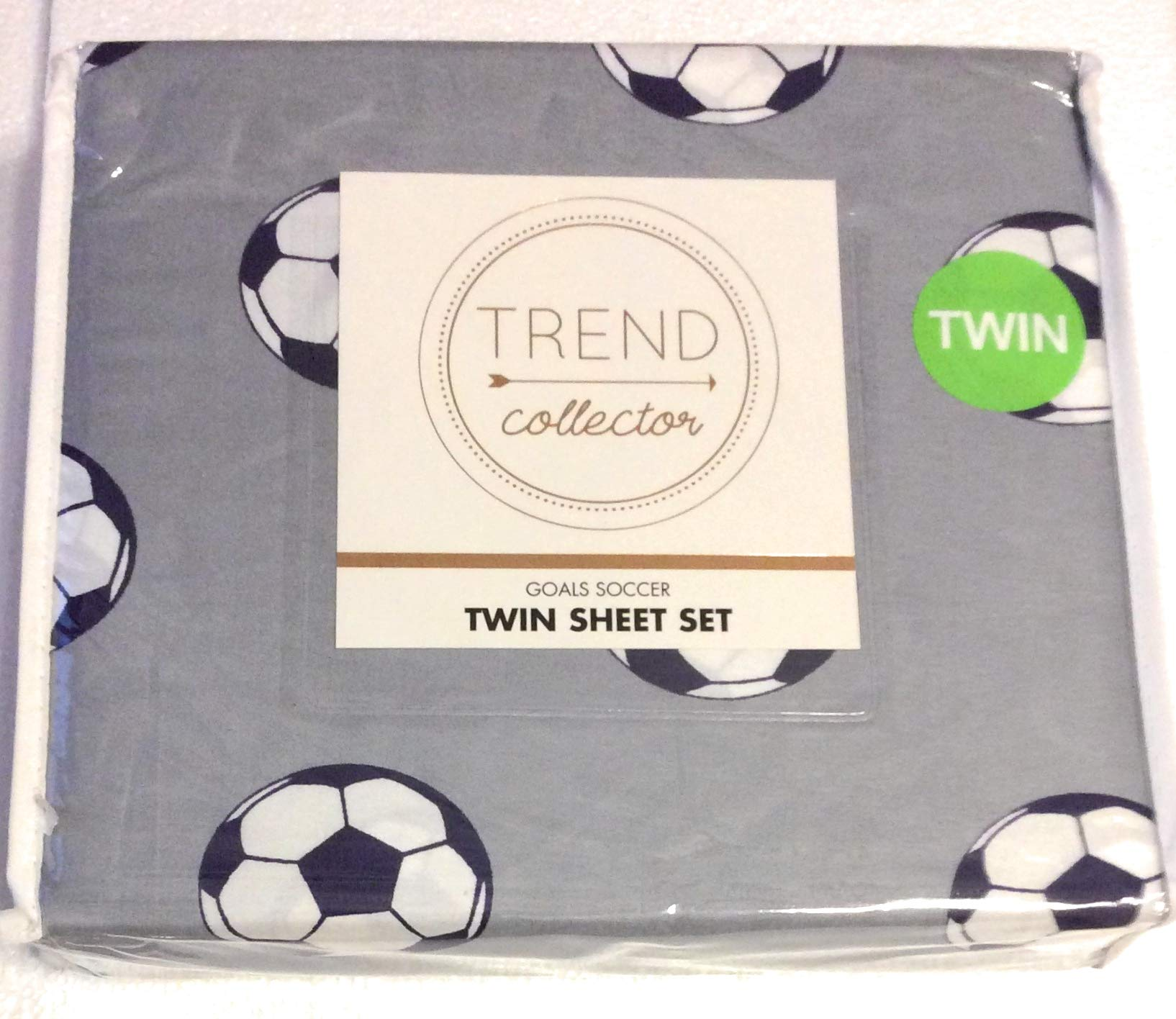 Trend Collection Charming Novelty Sheet Set for Kids in Lightweight Microfiber (Goals Soccer, Twin)