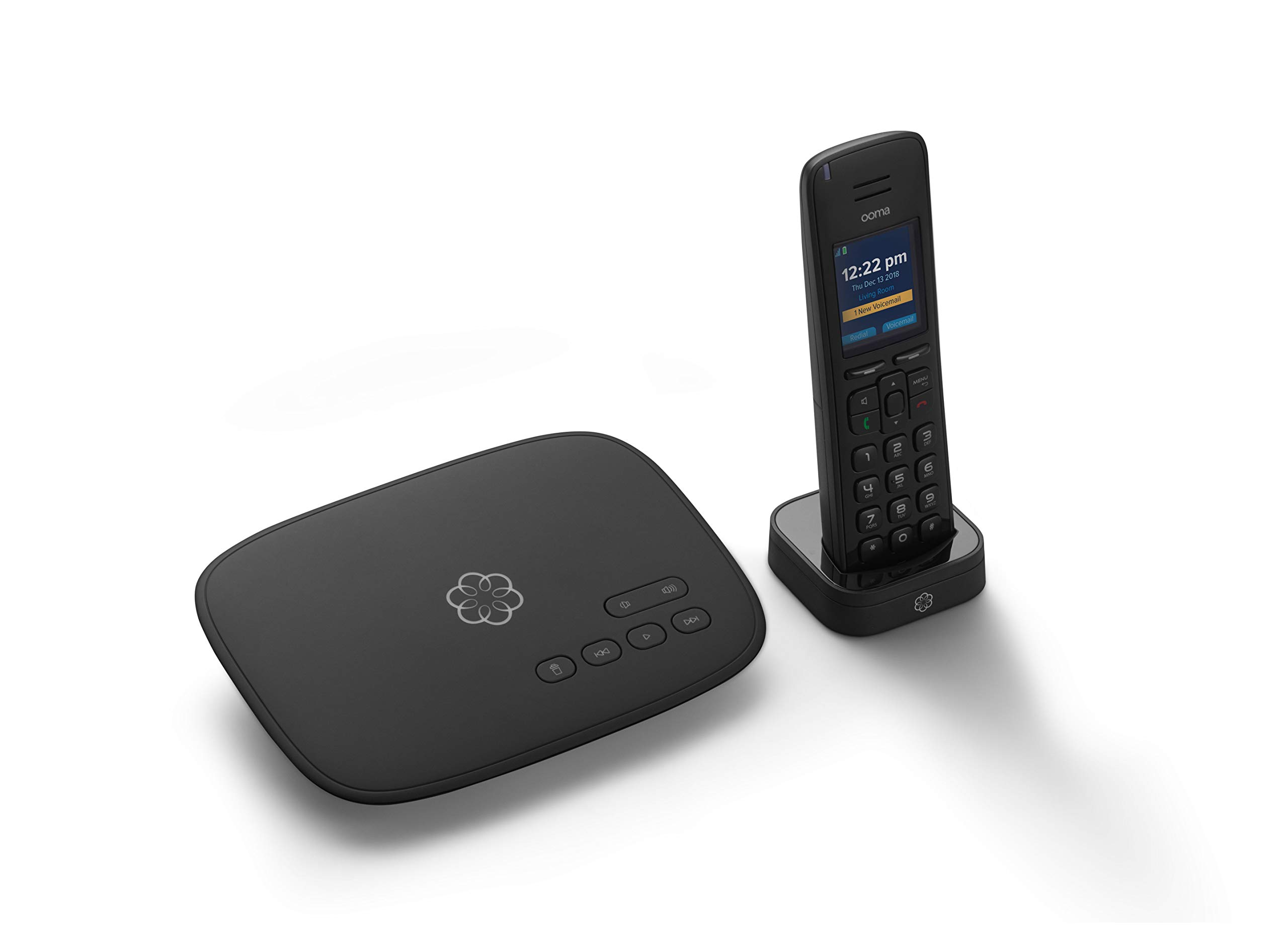 ooma Telo Free Home Phone Service and HD3 Handset. Works with Amazon Echo and Smart Devices. by ooma