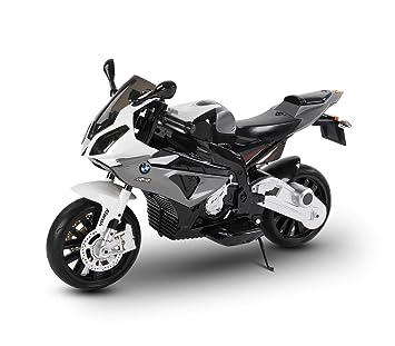 LT 832 Moto eléctrica para niños BMW asiento de cuero funcionamiento con llave - Gris: Amazon.es: Juguetes y juegos