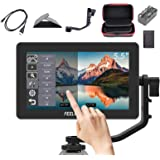 Feelworld F6 Plus +Battery + Charger +Carrying Case 5.5 Inch 3D LUT Touch Screen Field Monitor IPS FHD 1920x1080 Support…
