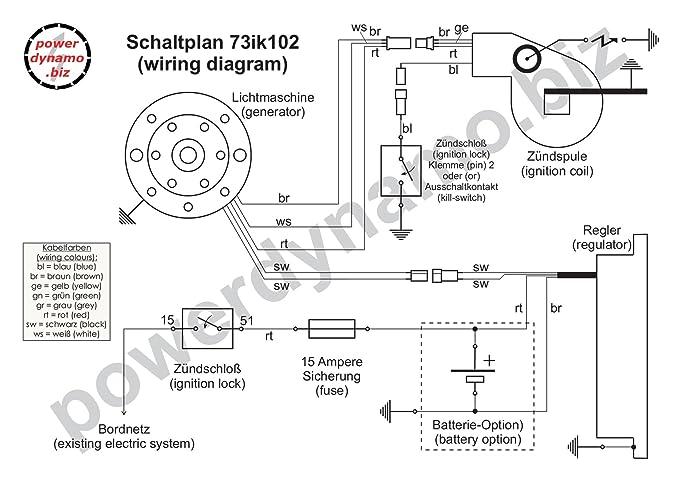 Schaltplan Yamaha Dt 125