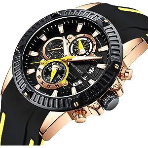 563035591 Men Business Watch, MINI FOCUS Quartz Chronograph Watches (Exquisite Dial,  Alloy Case)