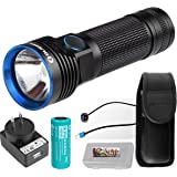 OLIGHT R50 PRO Seeker 3200 Lumens CREE XHP70 LED Rechargeable Flashlight Searchlight with 26650 Battery, Holster, Charger Adapter, Magnetic USB Charging cable and LegionArms case
