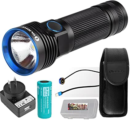 e37c64837d6d8 OLIGHT R50 PRO Seeker 3200 Lumens CREE XHP70 LED Rechargeable Flashlight  Searchlight with 26650 Battery