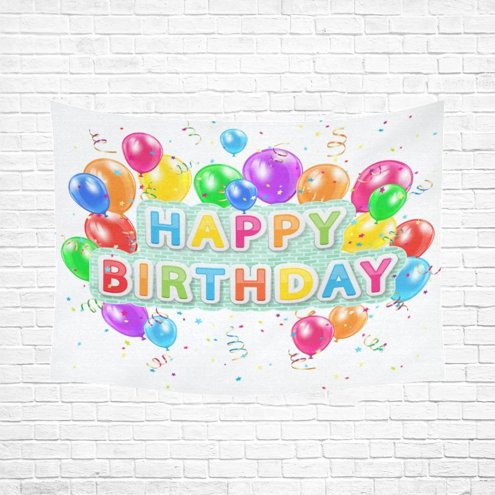 Feliz cumpleaños globos de regalo algodón lino de pared ...